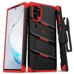 Zizo Bolt Cover Samsung Galaxy Note 10 ütésálló hátlap, tok, fekete-piros