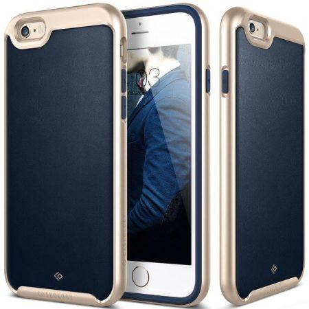 Caseology iPhone 6 Plus/6S Plus Envoy Series bőr hátlap, tok, sötétkék