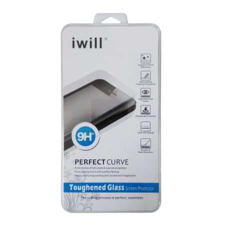 Iwill LG G2 kijelzővédő edzett üvegfólia (tempered glass) 9H keménységű, átlátszó