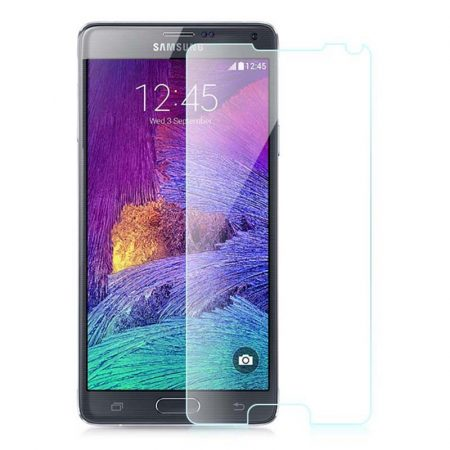 Iwill Samsung Galaxy Note 4 kijelzővédő edzett üvegfólia (tempered glass) 9H keménységű (nem teljes kijelzős 2D sík üvegfólia), átlátszó