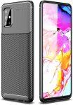 Carbon Fiber Samsung Galaxy A51 ütésálló hátlap, tok, fekete