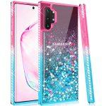 Diamond Liquid Samsung Galaxy A41 hátlap, tok, rózsaszín-kék