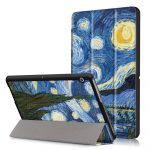 """Tech-Protect Smartcase Huawei Mediapad T3 10.0 """"Van Gogh"""" oldalra nyíló okos tok, mintás, színes"""
