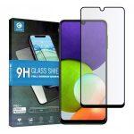 Mocolo TG+ Samsung Galaxy A22 5D teljes kijelzős edzett üvegfólia (tempered glass) 9H keménységű, fekete