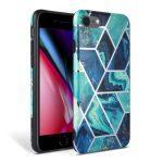 Tech-Protect Marble iPhone 7/8/SE (2020) hátlap, tok, márvány mintás, kék