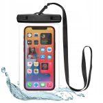 """Tech-Protect Univerzális vízálló telefon tok, 6.5"""" fekete"""