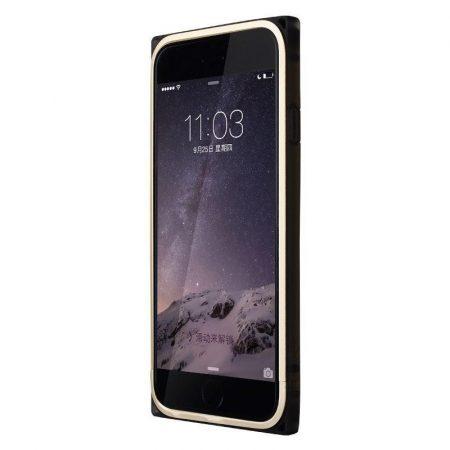 Baseus Rigid Soft Frame iPhone 6 keret, tok, arany-fekete