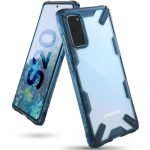 Ringke Fusion X Samsung Galaxy S20 hátlap, tok, kék