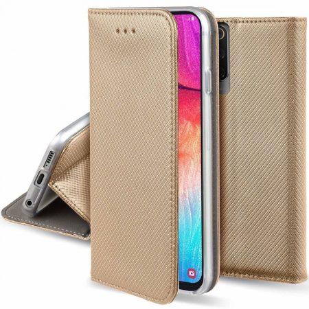 Smart Magnet Samsung Galaxy S7 oldalra nyíló tok, flip tok, arany