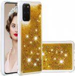 Liquid Glitter Huawei P20 hátlap, tok, arany