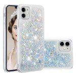 Huawei P20 Liquid Glitter hátlap, tok, ezüst