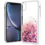 Huawei P20 Lite Liquid Glitter hátlap, tok, ciklámen rózsaszín