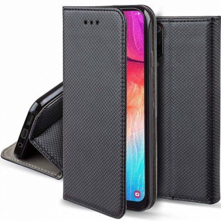 Smart Magnet Samsung Galaxy M30 oldalra nyíló tok, fekete