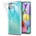 Samsung Galaxy A51 Slim 1,8mm szilikon hátlap, tok, átlátszó