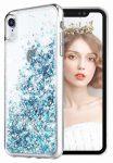 Liquid Sparkle Samsung Galaxy A41 hátlap, tok, kék