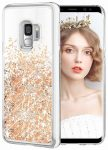 Liquid Sparkle Samsung Galaxy A41 hátlap, tok, arany