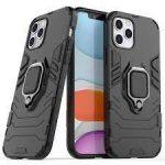 Armor Ring Case iPhone 12/12 Pro ütésálló hátlap, tok, fekete