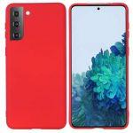 Silicon case Samsung Galaxy S21 szilikon hátlap, tok, piros