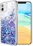 Liquid Sparkle TPU Xiaomi Mi 11 Lite 4G/Mi 11 Lite 5G hátlap, tok, kék