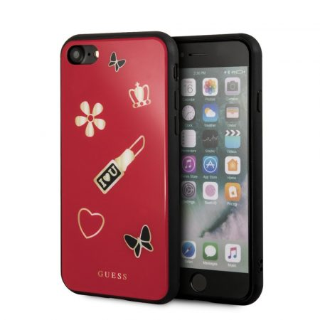 Guess Iconic iPhone 6/7/8 hátlap, tok, piros