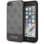 Guess 4G Stripe iPhone 6/6S/7/8/SE (2020) hátlap, tok, fekete