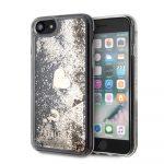 Guess iPhone 8 Liquid Glitter Hearts hátlap, tok, arany