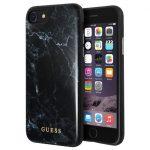 Guess iPhone 7/8 Marble Case márvány mintás hátlap, tok, fekete