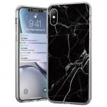 Wozinsky Marble case Samsung Galaxy A41 márvány mintás hátlap, tok, fekete
