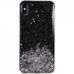 Wozinsky Star Glitter Shining Samsung Galaxy A41 hátlap, tok, fekete