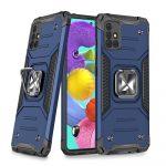 Wozinsky Armor Ring Samsung Galaxy A51 5G ütésálló hátlap, tok, kék
