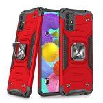 Wozinsky Armor Ring Samsung Galaxy A51 5G ütésálló hátlap, tok, piros