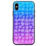 Glass Hearts Samsung Galaxy S10 Plus mintás, hátlap, tok, kék-rózsaszín