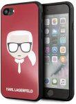 Karl Lagerfeld Iconic Karl's Head iPhone 6/6S/7/8/SE (2020) hátlap, tok, piros