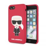 Karl Lagerfeld iPhone 7/8/SE (2020) Silicone Karl Iconic Full Body hátlap, tok, piros