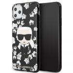 Karl Lagerfeld iPhone 11 Pro Max Flower Karl Iconic hátlap, tok, fekete