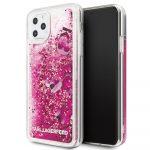Karl Lagerfeld iPhone 11 Pro Max Floating Charms Liquid Glitter Iconic hátlap, tok, rózsaszín