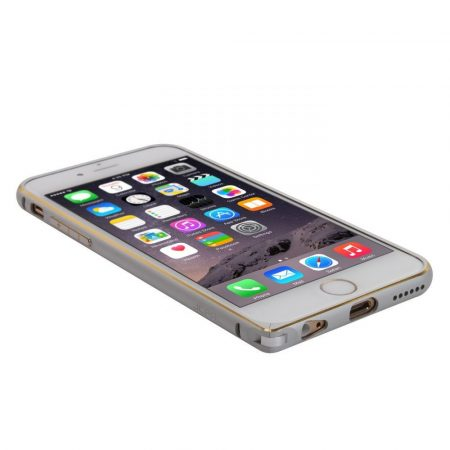 Iwill iPhone 6 Plus Double Color alu bumper tok, ezüst