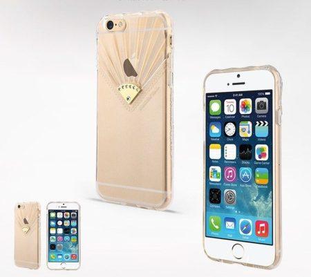 Apple iPhone 6/6S átlátszó TPU hátlap ,tok, USAMS Fan Series, Pure, átlátszó