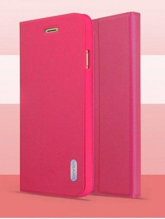 Apple iPhone 6, műanyag hátlap tok PU+PC Bumper, USAMS Geek, rózsaszín