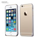 Apple iPhone 6 Plus, Aluminium Bumper, USAMS Arco Golden-Series,double-colour, fémszürke