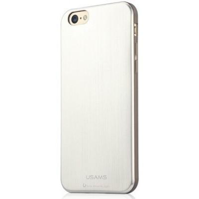 Apple iPhone 6 Plus, USAMS Metallica oldalt átlátszó, hátul fémes hatású TPU tok, ezüst