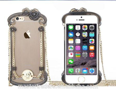 Apple iPhone 6/6S USAMS Miss Rococo hátlap, tok, átlátszó-fekete