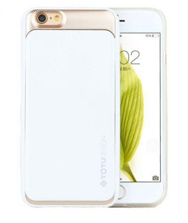 TOTU SPLENDOR SERIES case for iPhone 6 tok, fehér-arany