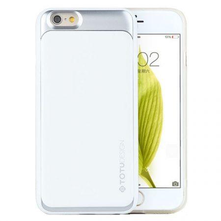 TOTU SPLENDOR SERIES case for iPhone 6 tok, fehér-ezüst