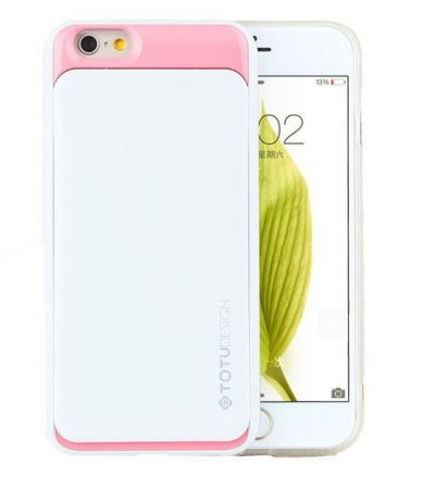 TOTU SPLENDOR SERIES case for iPhone 6 tok, fehér-rózsaszín