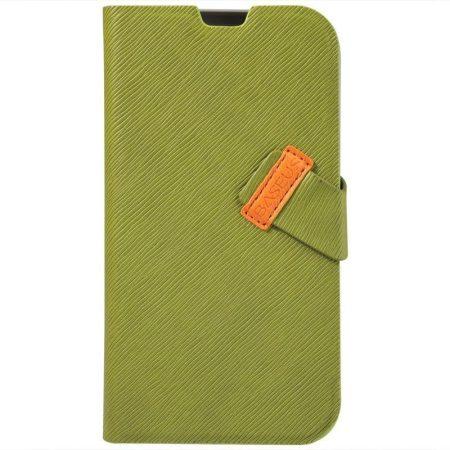 Baseus Faith Samsung Galaxy S4 I9500 oldalra nyíló bőr tok, zöld