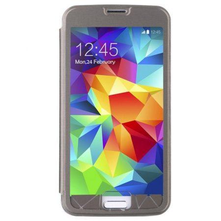 Baseus Coloured Glaze Samsung Galaxy S5 oldalra nyílótok, fekete