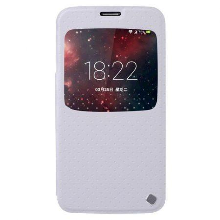 Baseus Finder Samsung Galaxy S5 oldalra nyíló tok, flip tok, fehér