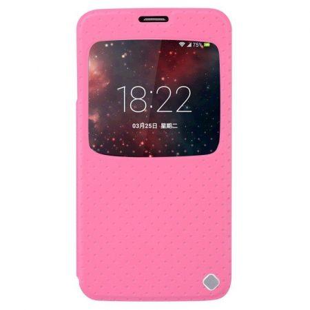 Baseus Finder Samsung Galaxy S5 oldalra nyíló tok, flip tok, rózsaszín