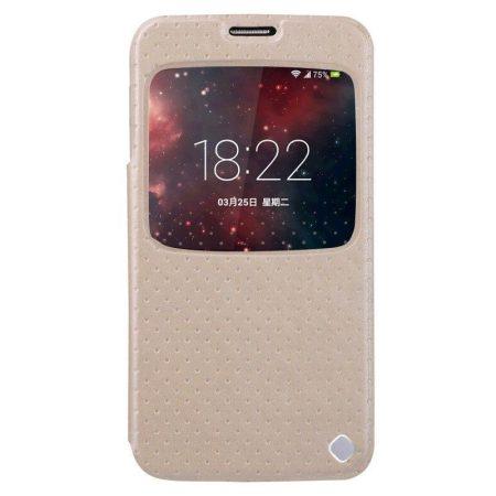 Baseus Finder Samsung Galaxy S5 oldalra nyíló tok, arany